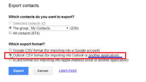 BigContacts Gmail Expor Instructions