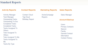 BigContacts Standard Reports