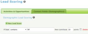 GreenRope Demographics based Lead Scoring