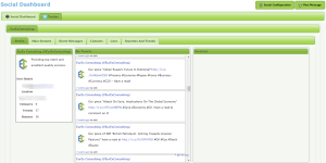 GreenRope Social Dashboard and Twitter Feed