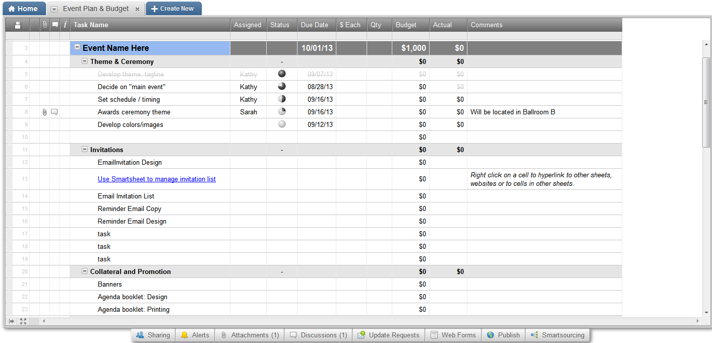 Review of Smartsheet: The CRM In A Spreadsheet