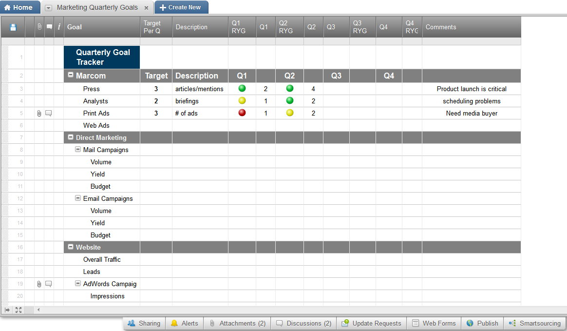 Review of smartsheet the crm in a spreadsheet smartsheet crm plan your marketing efforts and track goals nvjuhfo Gallery