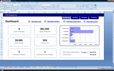 Crm On Excel The Excel Based Crm Solution