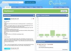 KarmaCRM Dashboard Screenshot