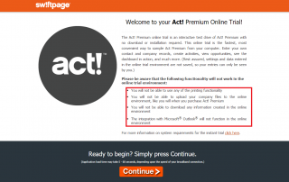 Act CRM - Trial version