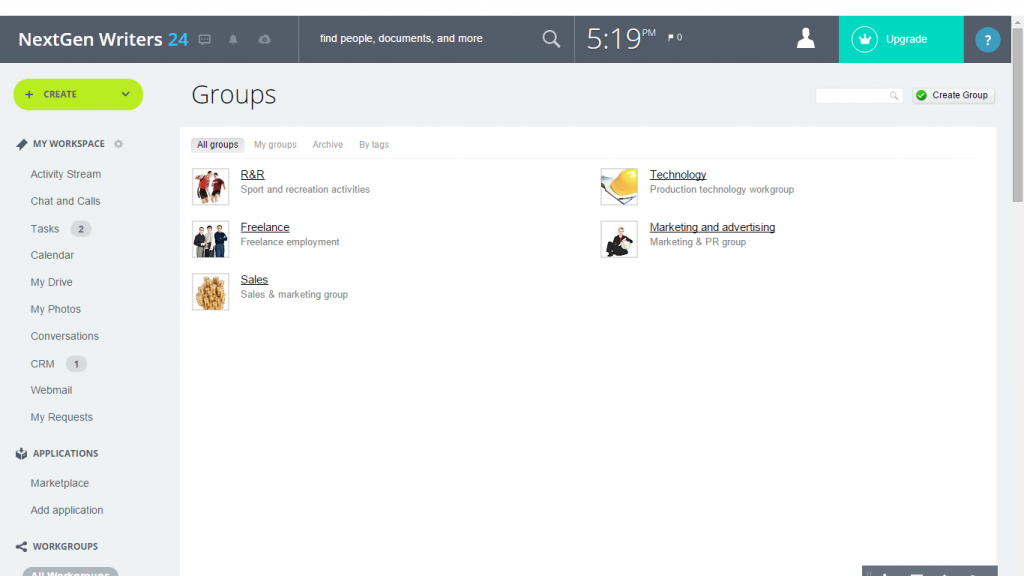 how to create projects in workgroups bitrix24