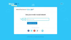 Bitrix24-Sign up form