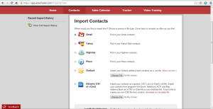Ace of Sales offers a variety of methods to import your contacts