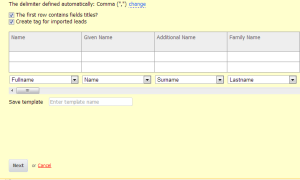 Amor CRM Import Contacts