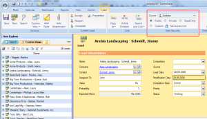 Centerbase Security Settings for the Active Lead