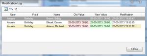 Centerbase View Modification Log