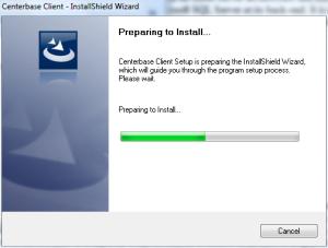 Centerbase Client Installation First Screen
