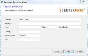 Centerbase Client Setup Form to Provide Personal Infromation