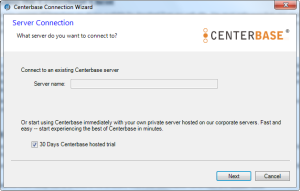 Centerbase Configuring the Connectivity to the Server