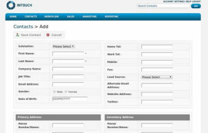Intouch CRM Contacts