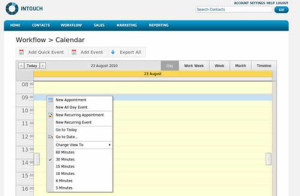 Intouch CRM Workflow