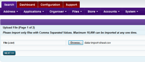 Intrabench CRM - Data import Step1