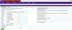 Intrabench CRM - Data import Step2 - Setup mapping between fields