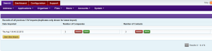 Intrabench CRM - Data import Step3 - Results page
