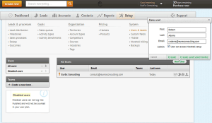 NutshellCRM - Adding and inviting new users