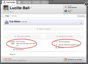 NutshellCRM - Contact detail screen