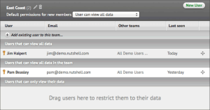NutshellCRM - Drawing 1 - Data security configuration - specifying access details