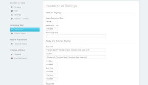 Reamace Knowledgebase Settings