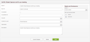 Zurmo CRM Create Tasks