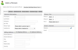 InfusionSoft CRM Add a Contact