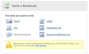 InfusionSoft CRM Sending a Broadcast