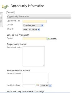 InfusionSoft CRM Tracking Opportunities