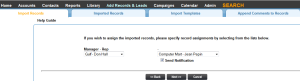 Leadmaster CRM Assign Imported Records