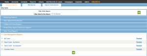 Leadmaster CRM Built in Reports