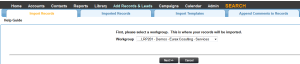 Leadmaster CRM Choose the Workgroup