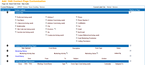 Leadmaster CRM Contact Page Customization