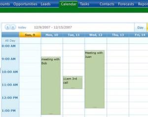 Simple Sales Tracking Calendar