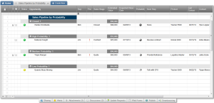 Smartsheet CRM As a sales management tool it can be used to track sales pipeline by probability