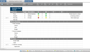Smartsheet CRM Plan your marketing efforts and track goals