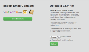 Groove CRM Import Contacts