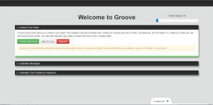 Groove CRM Welcome