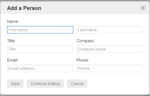 Nimble CRM Adding a Personal Contact