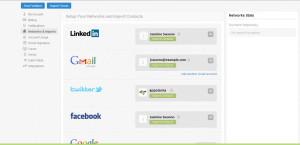 Nimble CRM Import Contacts Screen