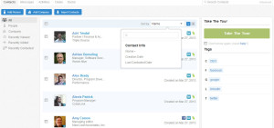 Nimble CRM recently viewed Contacts