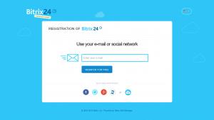 Bitrix24-Sign up form